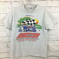 Vtg 1991 12 hours Sebring tshirt 39th M Nissan grey raglan distressed Camel GT