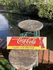 Coca Cola: Thick Wooden Signs