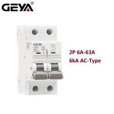 Ac Mcb Circuit Breaker 2Pole 6/10/16/25/32/40/50/63Amp 400V 6kA Safety Switch