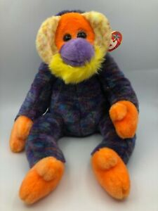 Beanie Buddies Collection TY Bananas Orangutan Monkey Plush Stuffed Toy Animal