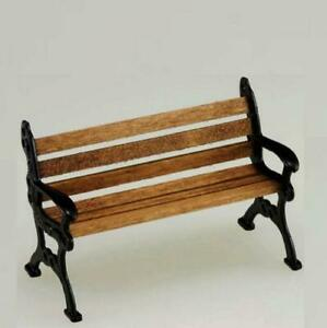 Dollhouse Park Bench Wood & Metal 1:24 Scale Island Crafts & Miniatures