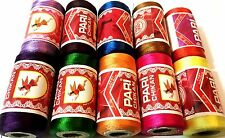 10 X Embroidery Spools Sewing Machine Silk Threads (brother Janome Guterman)