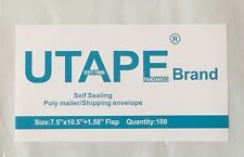 UTAPE® 100 WHITE POLY MAILERS ENVELOPES SELF SEALING SHIPPING BAGS 7.5 x 10.5