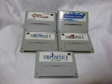 Lot 5 Chrono Trigger Bahamut Lagoon Final Fantasy 4 5 6 Ⅳ V VI Super Famicom