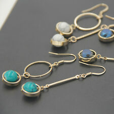 1Pair Charm Women Asymmetric Hook Crystal Earring Ear Drop Dangle Jewelry Gift