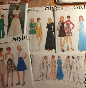 """Vintage clothing patterns, Style x4 simplicity x1 Women size 10, Bust size 32.5"""""""