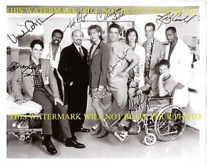 CHICAGO HOPE CAST AUTOGRAPHED 8x10 RP PHOTO BY 9 MARK HARMON ROCKY CARROLL +
