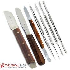 Dental Plaster Mixing Spatulas Laboratory Technicians Wax & Modelling Carver Kit