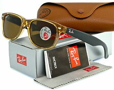 Ray-Ban New Wayfarer Honey Black l Polarized Crystal Brown RB2132 945/57 55mm