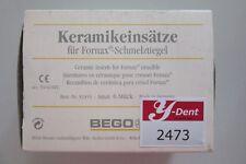 Bego Keramikeinsätze für Fornax-schmelztiegel #2473
