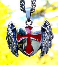 Estaño Inglés-Templarios Escudo Colgante Collar templo de Soloman