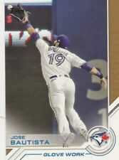 2017 TOPPS UPDATE SALUTE JOSE BAUTISTA OF JAYS #USS-46 GLOVE WORK SP