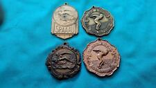 4 vintage Swimming Medals ~ Inland Empire, SPAAAU, Unknown with Fish Border
