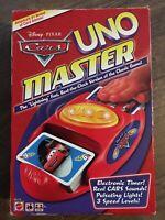 2007 Mattel Disney Pixar Cars Uno Master Game With Electronic Sound Timer RARE