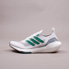 Adidas Running Ultraboost 21 White Grey Green eqt New Men Shoes gym Rare FZ2326