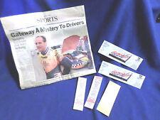 Lot 6 newspaper article Inaugural Gateway 300 St Louis tickets 1st season NASCAR