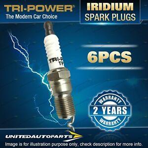 6 x Tri-Power Iridium Spark Plugs for Mitsubishi Pajero NJ NK NL NM NP 4WD V6