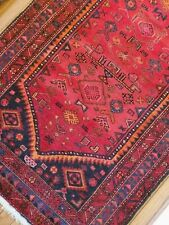 4.3 x 6.7 Antique Caucasian Heriz Rug Kazak Vintage Serapi Oushak Shirvan