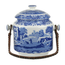 NEW Spode 200th Anniversary Blue Italian Biscuit Barrel