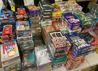 Fun Lot of 50 Unopened Old Vintage Baseball Cards in Wax Packs Huge Assortment