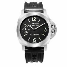 Panerai Luminor Marina Steel Black Dial Hand-Winding Mens Watch PAM00111
