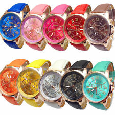 10 Pack Geneva Watch Women Men Analog Quartz Dress Wristwatches Gifts