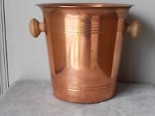 Vintage french COPPER Wine CHAMPAGNE ICE BUCKET