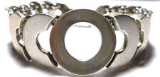 MEXICO MEXICAN STERLING SILVER MENS WOMENS MODERN MODERNIST ABSTRACT BRACELET