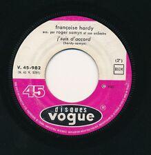 """FRANCOISE HARDY 45 TOURS 7"""" FRANCE TOUS LES GARCONS ET LES FILLES"""