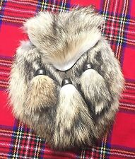 Mens Scottish Kilt Sporran Fox Fur/Kilt Sporran Fox Fur Mouth/kilt Sporrans fox