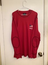 Polo Ralph Lauren Long Sleeve Shirt Sleepwear Red New With Tags Mens Size XL