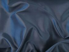 Navy Faux Silk Polyester Dress Fabric 150cm SOLD BY THE METRE FREE P+P