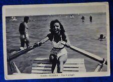 RIMINI -  TORRE PEDRERA - SALUTI DAL PATTINO - 1957