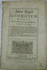 18th Century 1742 George II Act of Parliament Relating to Raising Money