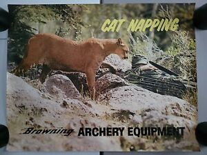 Vintage Browning Arms Co. Gun Archery Clothing Store Display Advertising Poster