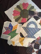 Vintage/Antique Patchwork Quilt Blocks - Lot of 14