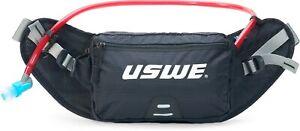 USWE Zulo 2 Waist / Hip Belt Hydration Pack Black 1L Bladder  - Hiking Walking