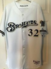 Jim Skaalen Milwaukee Brewers Game Used Jersey MLB COA #32 Vs Cardinals Majestic