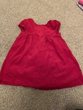 Mothercare Girls Red Dress 9-12 Months