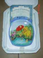 Bradford Exchange Collectors Plate APRIL - WINNIE THE POOH - DISNEY