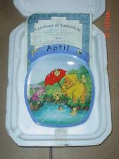 Bradford Exchange Collectors Plate APRIL - WINNIE THE POOH - DISNEY