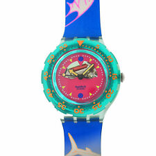 Authentic Unisex Swatch Happy Fish SDN101 Quartz 38MM Watch