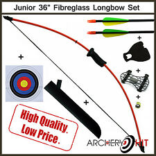 "Kids 36"" Junior Longbow and Arrow Archery Set"