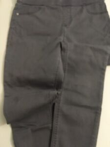 justice mid rise jegging legging grey taupe size 20 plus used