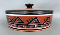 """TABLETOPS Gallery HOPI Hand Painted, Hand Crafted Serving Bowl w/Lid, 8.5"""" X 4"""""""