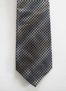 NWOT Authentic MISSONI Houdstooth Print 100% SILK Jacquard Classic Neck Tie