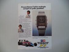 advertising Pubblicità 1980 OROLOGIO TISSOT F1 e MARIO ANDRETTI/ELIO DE ANGELIS
