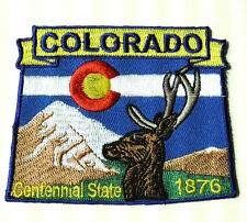 COLORADO STATE NAME MAP EMBROIDERED PATCH 2 X 3 INCHES