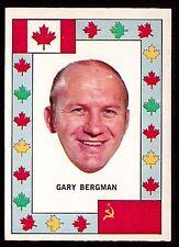 1972 O-PEE-CHEE TEAM CANADA HOCKEY CARD GARY BERGMAN DETROIT RED WINGS