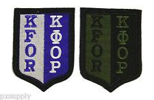 patch kfor kosovo force set of 2 nato otan